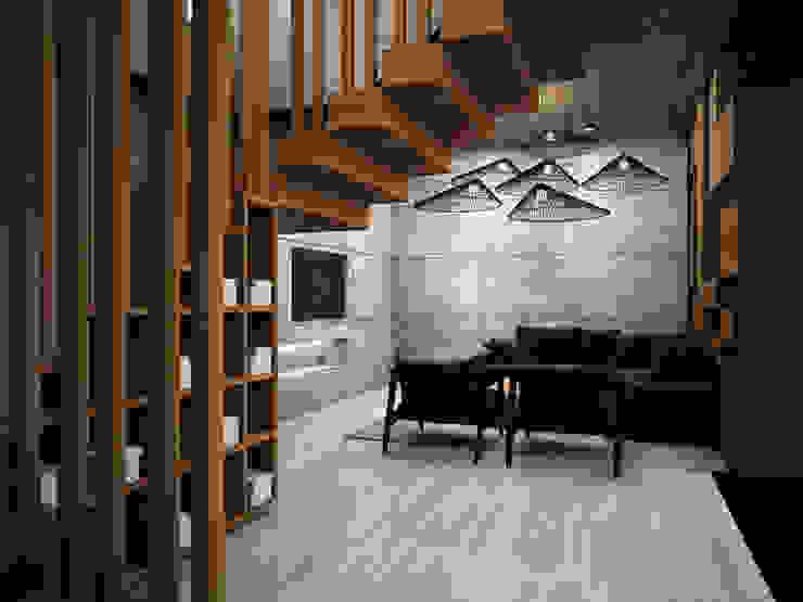 Phòng khách phong cách công nghiệp bởi Zero field design studio Công nghiệp