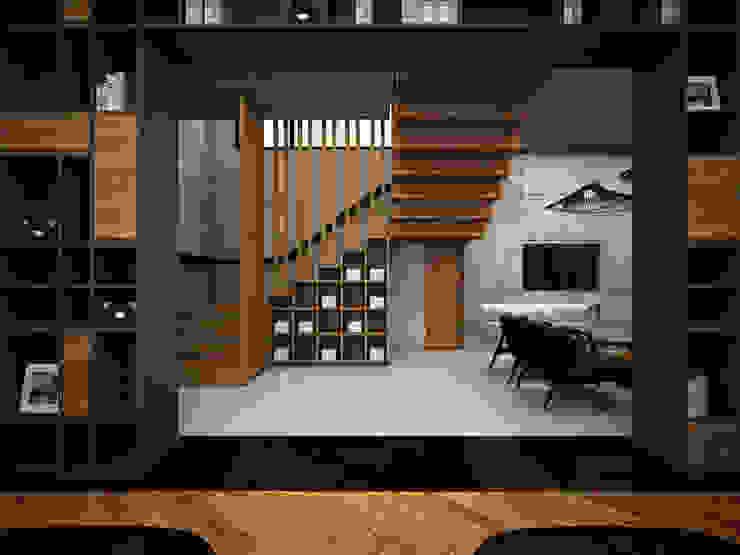 Heddster Factory House industrial style corridor, hallway & stairs by Zero field design studio Industrial