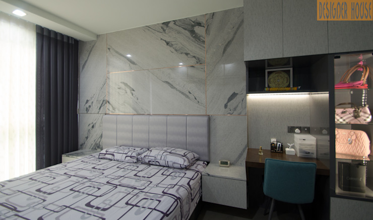 Master Bedroom Designer House Modern style bedroom Granite White