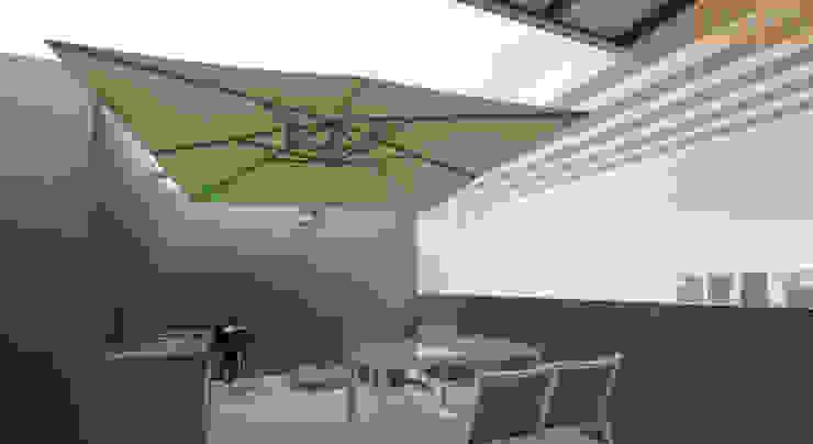 Roof Top Designer House Modern style gardens Concrete Grey