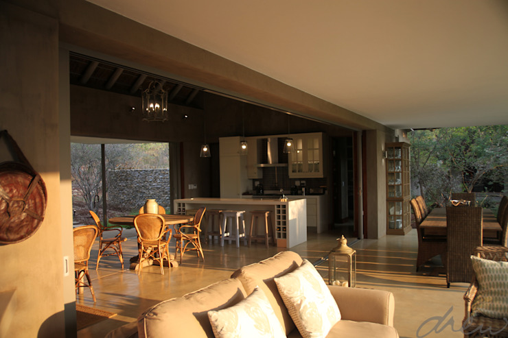 new lodge  |  leopard creek estate:  Patios by drew architects + interiors, Modern Wood Wood effect