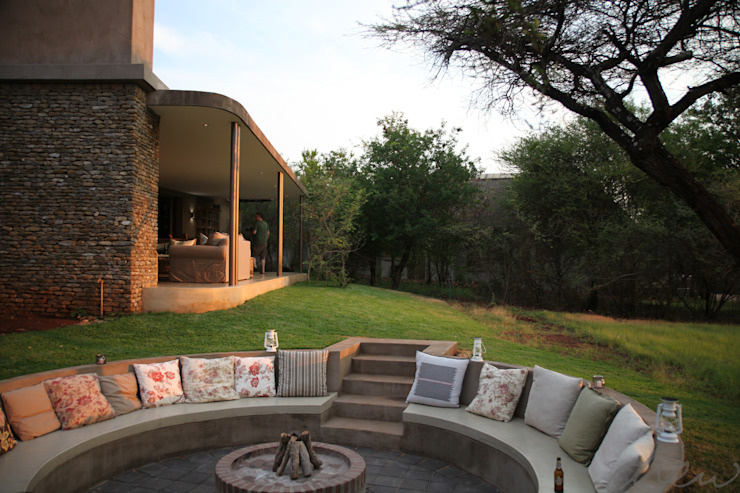 new lodge  |  leopard creek estate:  Patios by drew architects + interiors, Modern Stone