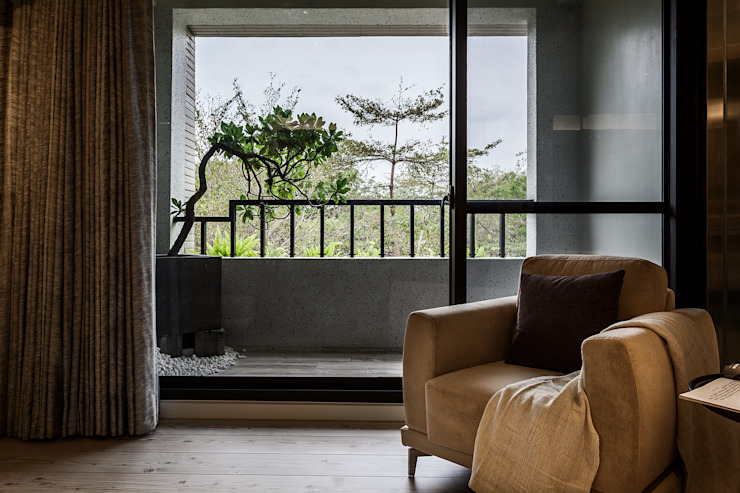 Chambre de style  par 漢玥室內設計, Industriel