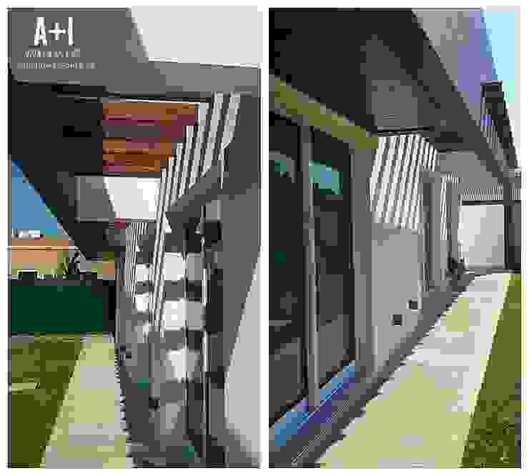 Patio Exterior Casas modernas de Estudio A+I Moderno