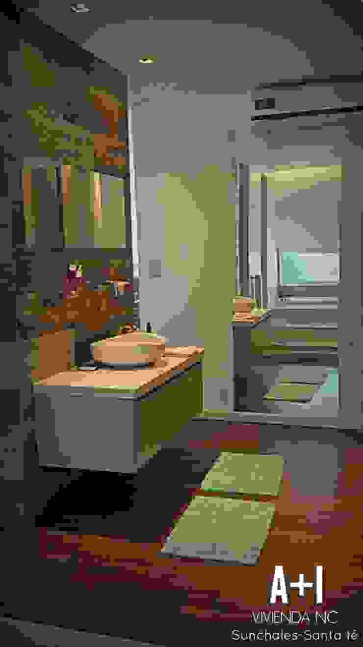 Ante baño y Vestidor Baños de estilo moderno de Estudio A+I Moderno