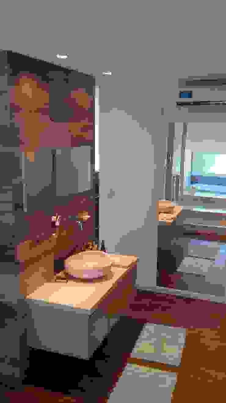 Ante baño Baños de estilo moderno de Estudio A+I Moderno