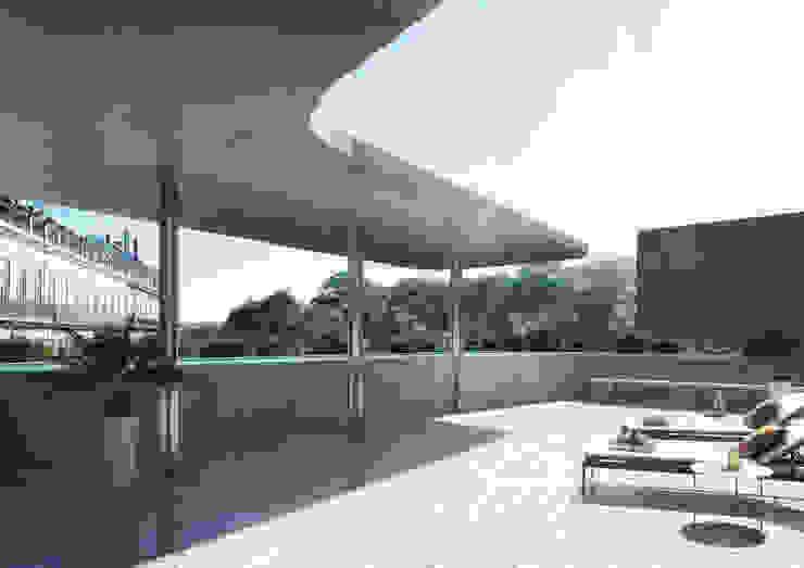 Onstudio Lda Modern balcony, veranda & terrace