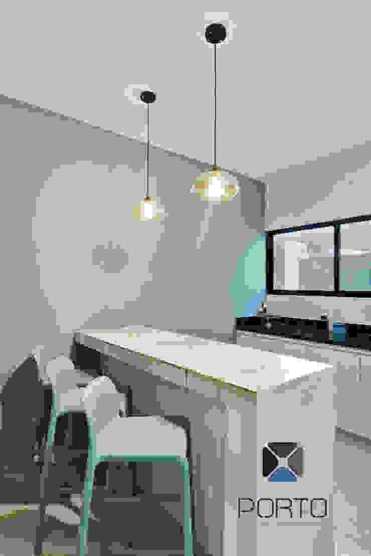 PORTO Arquitectura + Diseño de Interiores Nowoczesna kuchnia