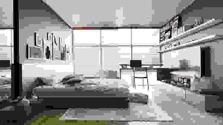 Thiết kế Nội thất Phòng ngủ phong cách hiện đại bởi AT Design Hiện đại
