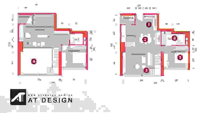 Thiết kế Nội thất Nhà bếp phong cách hiện đại bởi AT Design Hiện đại