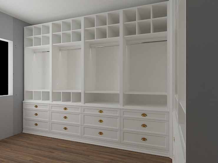 Allizzia Tasarım Dressing roomWardrobes & drawers Wood White
