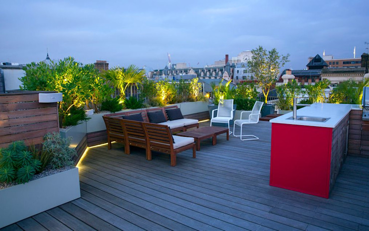 Roof terrace lifestyle 根據 MyLandscapes Garden Design 現代風