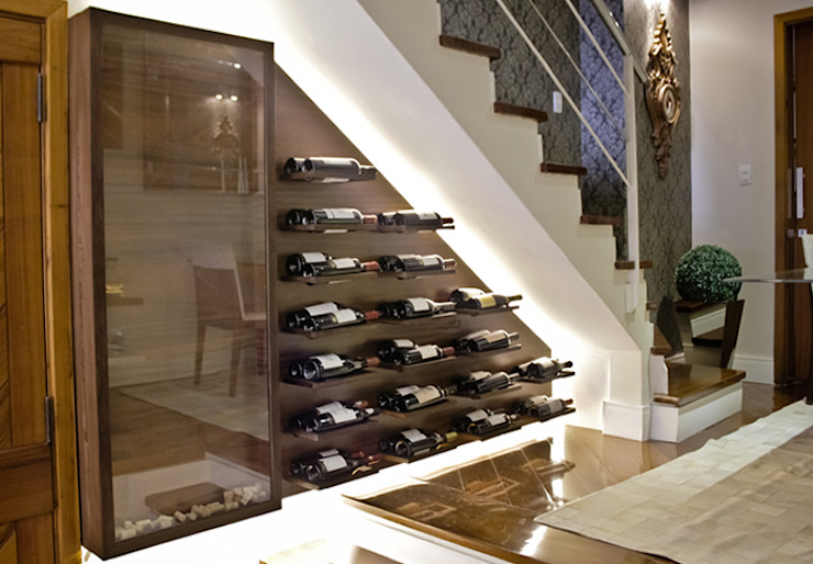 Wine cellar by Bloco Z Arquitetura,