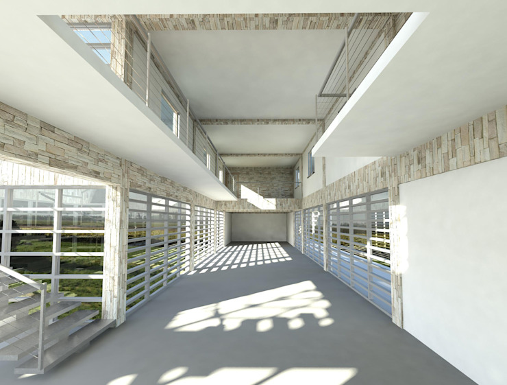 Casa Puente Mirador Casas de estilo mediterráneo de Tetralux Arquitectos Mediterráneo