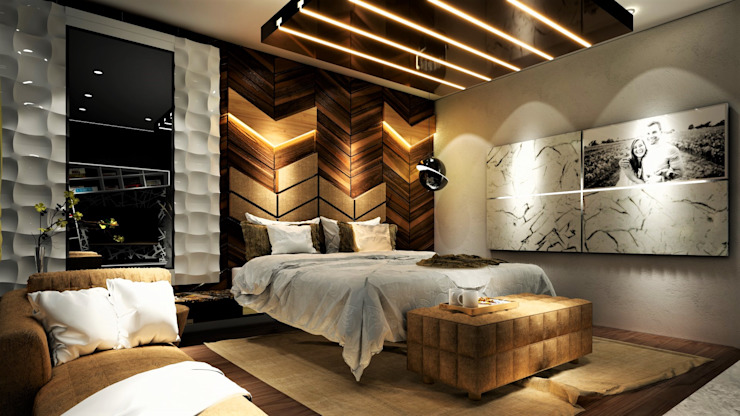 5BHK Villa, Undri Modern style bedroom by Design Evolution Lab Modern Solid Wood Multicolored