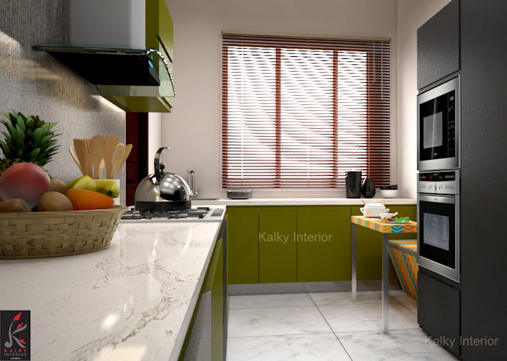Built-in kitchens by homify, Industrial Plywood