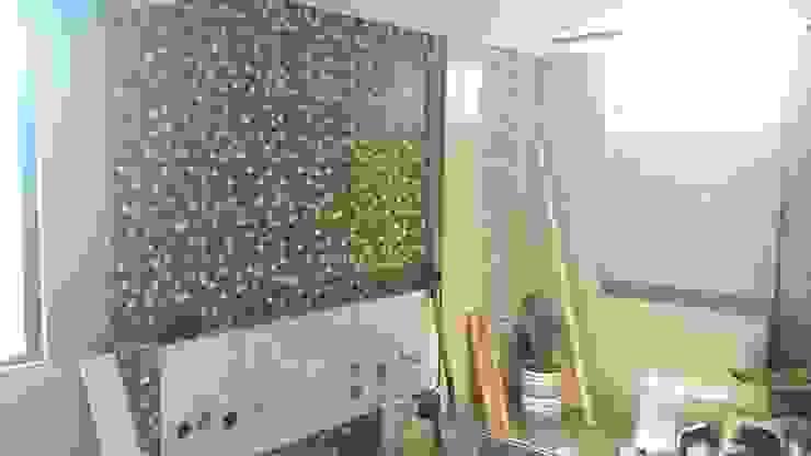 baño principal - acabados paredes Baños de estilo minimalista de Arquigrafic, c.a. Minimalista