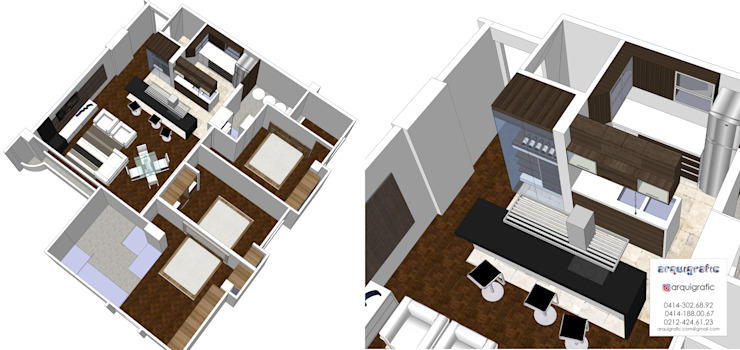 Proyecto Inicial 3D de Arquigrafic, c.a. Minimalista
