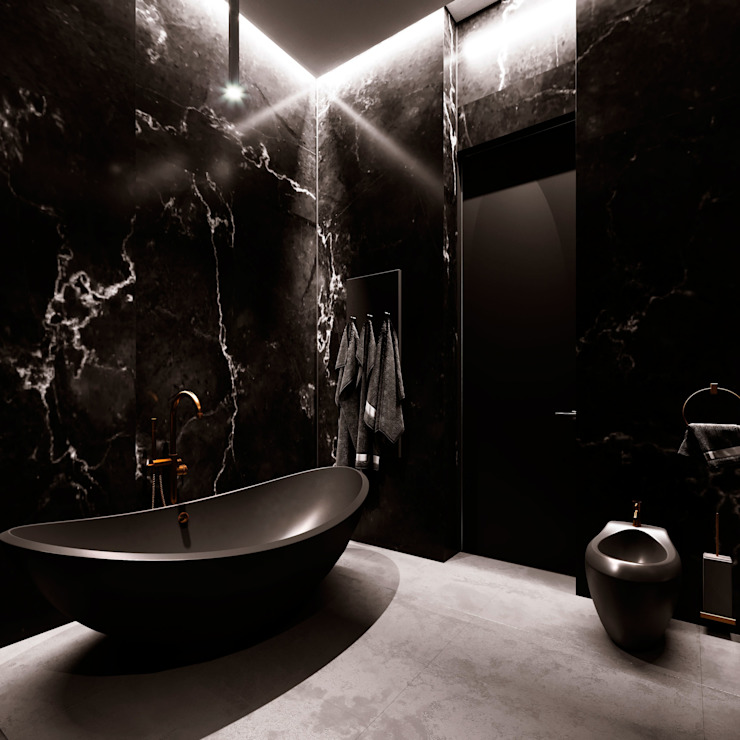 Grynevich Architects Eclectic style bathrooms