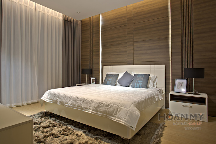 Phòng ngủ: hiện đại  by Thương hiệu Nội Thất Hoàn Mỹ, Hiện đại