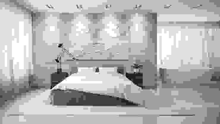 Wandbild aus Gips Modell MOUGINS Moderne Schlafzimmer von Loft Design System Deutschland - Wandpaneele aus Bayern Modern