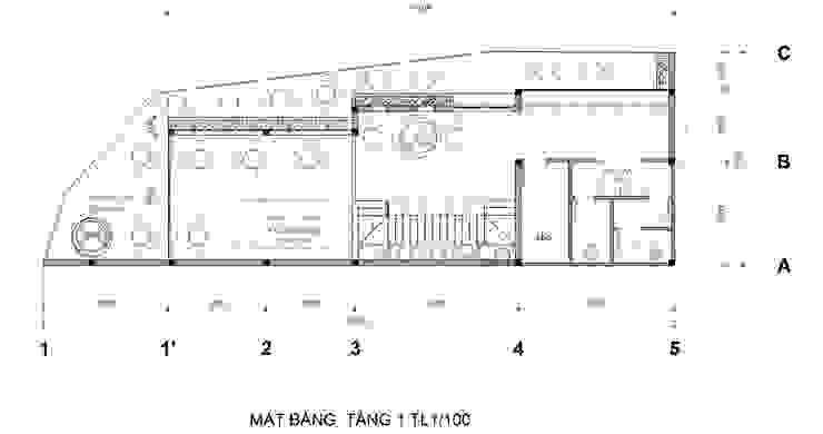 Mat Bang Tang 1: hiện đại  by Công Ty Cp Thiết Kế Kiến Trúc Và Xây Dựng A9 Design, Hiện đại