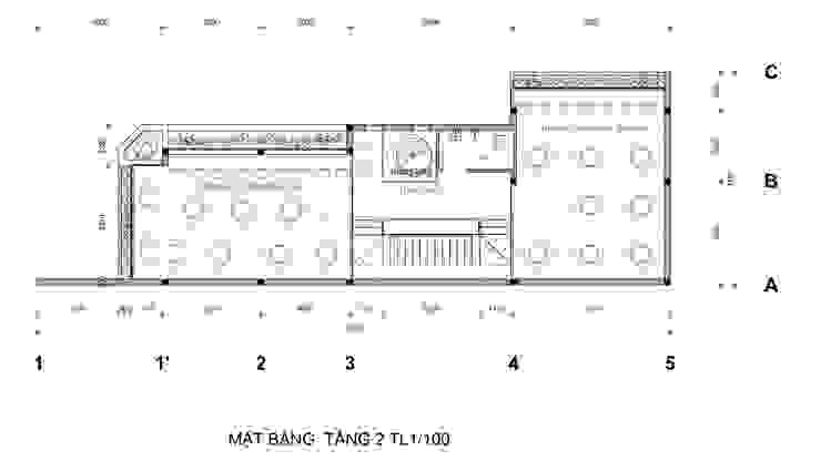 Mat Bang Tang 2: hiện đại  by Công Ty Cp Thiết Kế Kiến Trúc Và Xây Dựng A9 Design, Hiện đại
