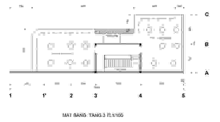 Mat Bang Tang 3: hiện đại  by Công Ty Cp Thiết Kế Kiến Trúc Và Xây Dựng A9 Design, Hiện đại