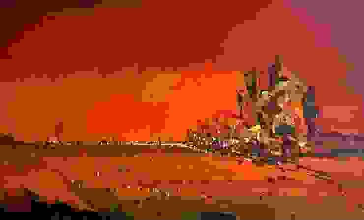 Dawn: asian  by Indian Art Ideas,Asian