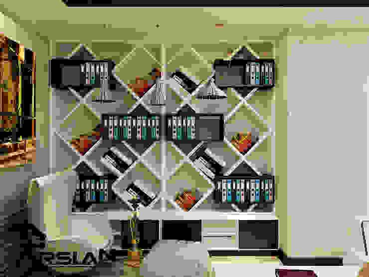 Study/office by ARSLAN ENDÜSTRİ VE MİMARİ TASARIM, Modern Wood Wood effect