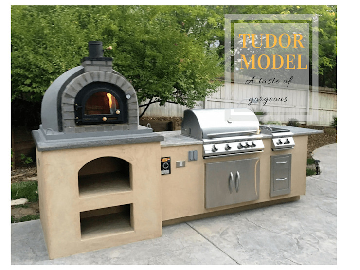 Wood-fired European pizza oven - OUTDOOR KITCHEN by Dome Ovens® Mediterranean