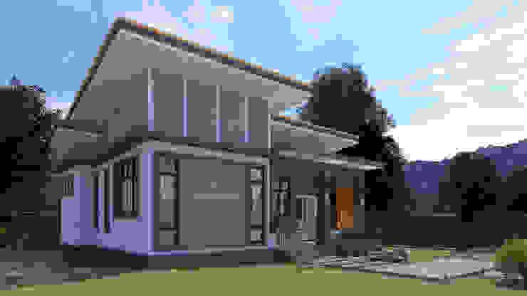 บ้านพักอาศัยชั้นเดียว โดย แบบบ้านออกแบบบ้านเชียงใหม่ โมเดิร์น
