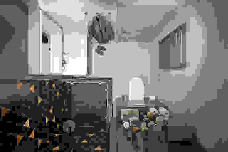 Квартира 60 кв.м. в современном стиле ЖК Ясный Ванная комната в эклектичном стиле от Студия архитектуры и дизайна Дарьи Ельниковой Эклектичный