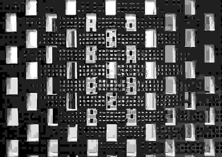 Thiết kế mặt tiền hướng Tây chắn nắng:  Nhà gia đình by Công ty TNHH Xây Dựng TM – DV Song Phát