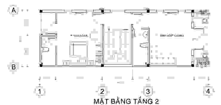 Thiết kế bản vẽ mặt bằng nhà phố 3,5 tầng bởi Công ty TNHH Xây Dựng TM – DV Song Phát Hiện đại