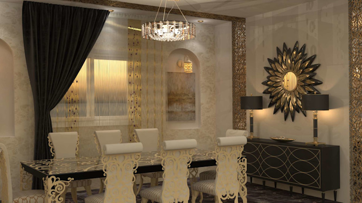 Salas de jantar clássicas por Batool Clássico