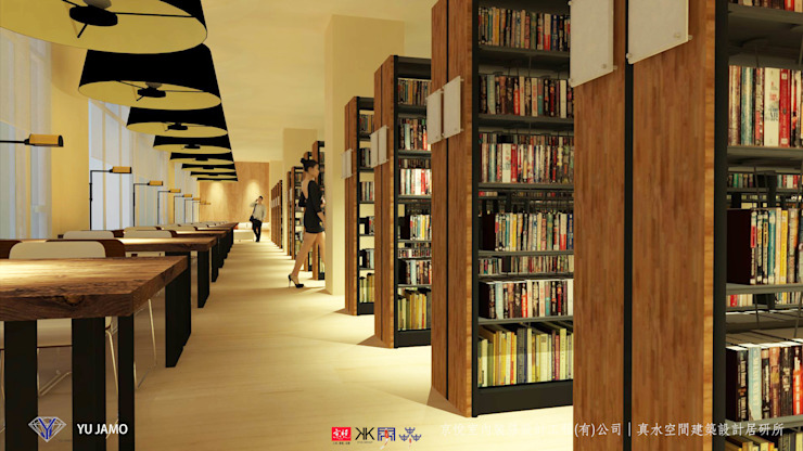 NTUS Library大學圖書館設計案 - 京悅設計 Industrial style study/office by 京悅室內裝修設計工程(有)公司|真水空間建築設計居研所 Industrial Solid Wood Multicolored