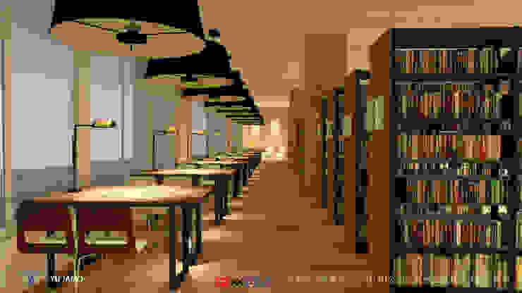 NTUS Library大學圖書館設計案 - 京悅設計 Industrial style living room by 京悅室內裝修設計工程(有)公司|真水空間建築設計居研所 Industrial Concrete