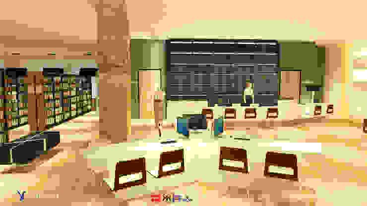 NTUS Library大學圖書館設計案 - 京悅設計 Minimalist media room by 京悅室內裝修設計工程(有)公司|真水空間建築設計居研所 Minimalist Marble