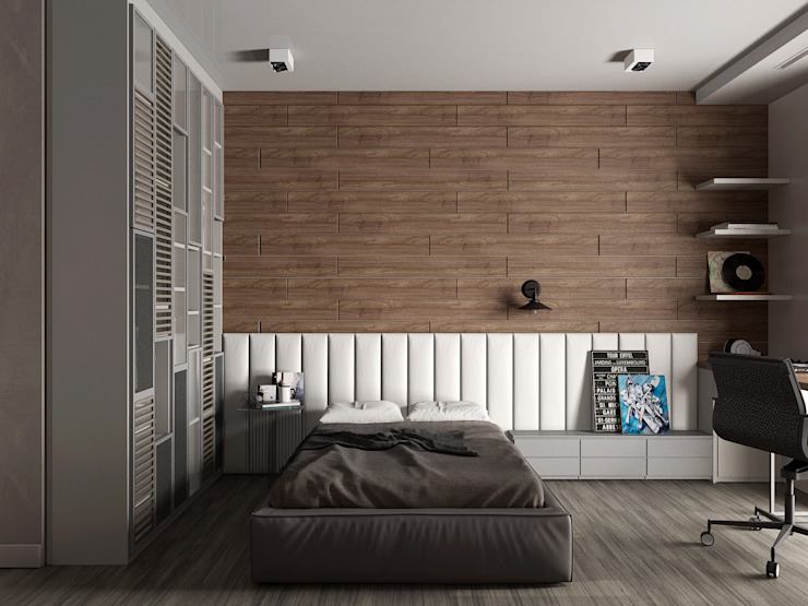 Minimalist bedroom by EEDS дизайн студия Евгении Ермолаевой Minimalist