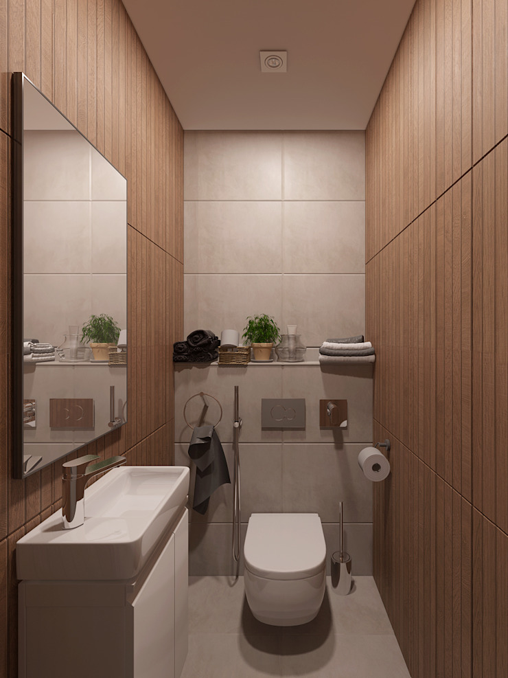 Minimalist style bathroom by EEDS дизайн студия Евгении Ермолаевой Minimalist
