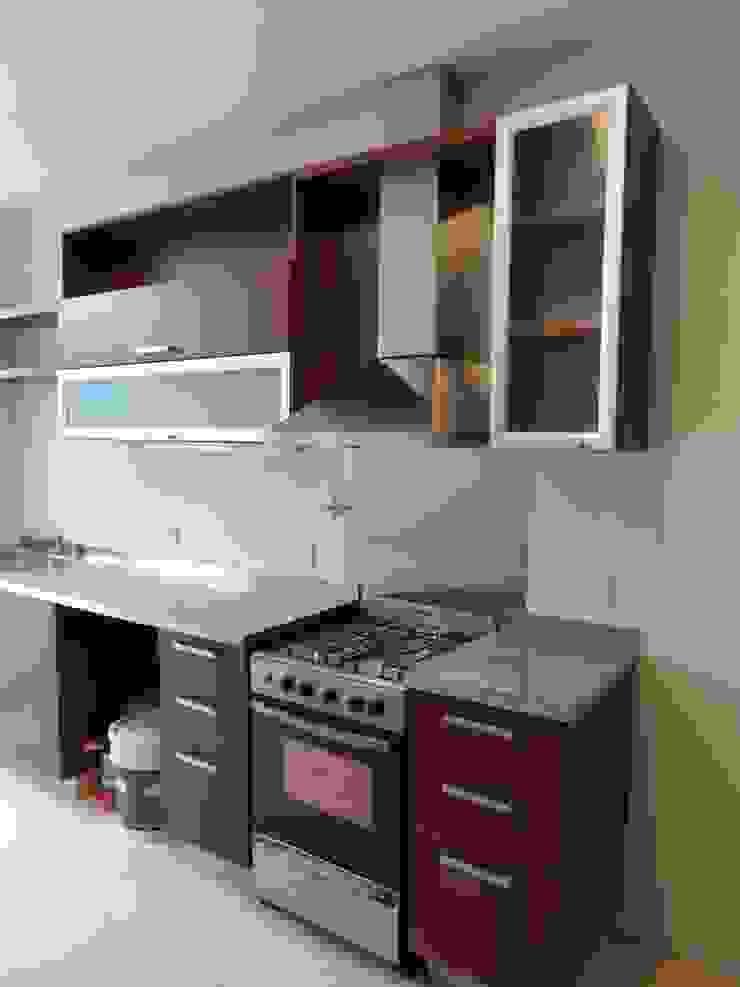 Muebles de cocina de NG Estudio Moderno Madera Acabado en madera
