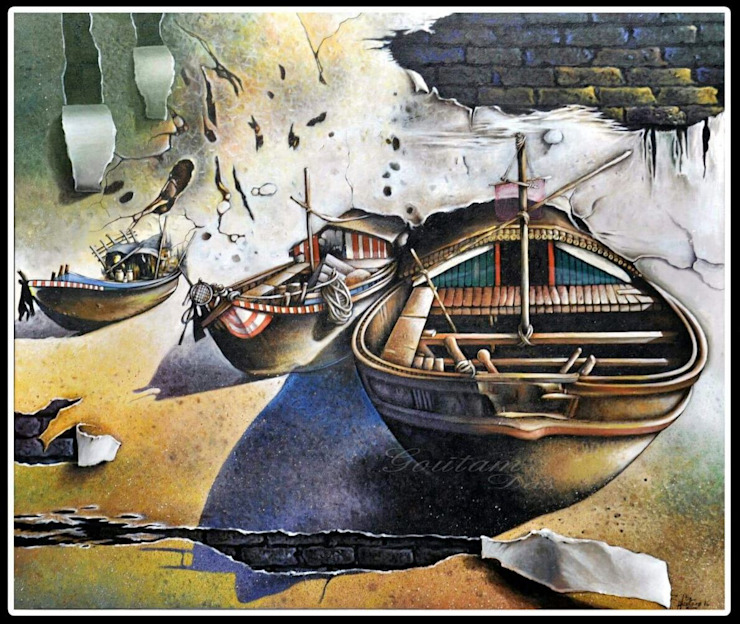 Mysterious scape: asian  by Indian Art Ideas,Asian
