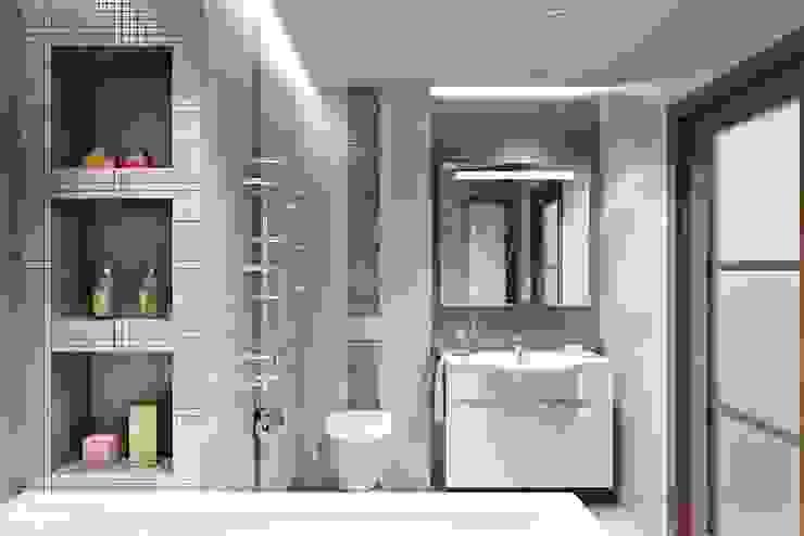 РАДУГА ЭМОЦИЙ Ванная комната в эклектичном стиле от Дизайн студия Алёны Чекалиной Эклектичный