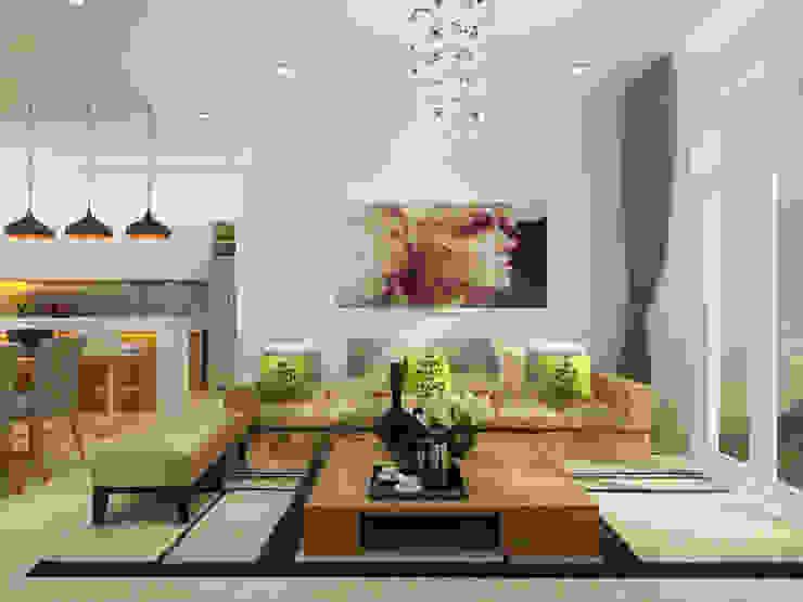 Thiết Kế Nhà 1 Tầng 3 Phòng Ngủ Chỉ Với 800 Triệu bởi Công ty TNHH Xây Dựng TM – DV Song Phát Hiện đại