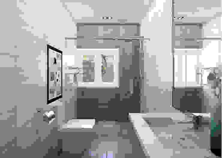 Phòng vệ sinh thông thoáng, sáng sủa Phòng tắm phong cách hiện đại bởi Công ty TNHH Xây Dựng TM – DV Song Phát Hiện đại