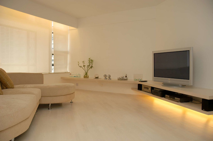 Park Towers Modern living room by Clifton Leung Design Workshop Modern
