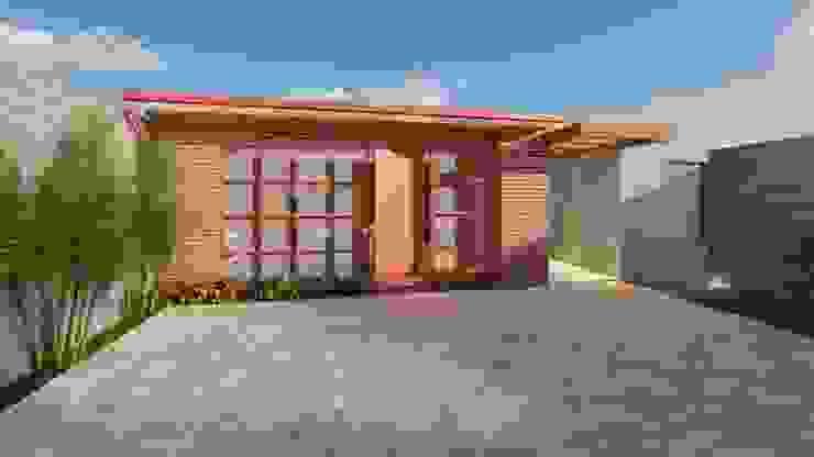 Rumah Gaya Rustic Oleh Pedro Aguiar Arquitetura + Obra Rustic Kaca