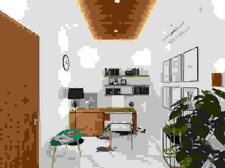 Director Room / Office Room Ruang Studi/Kantor Tropis Oleh SEKALA Studio Tropis Kayu Wood effect