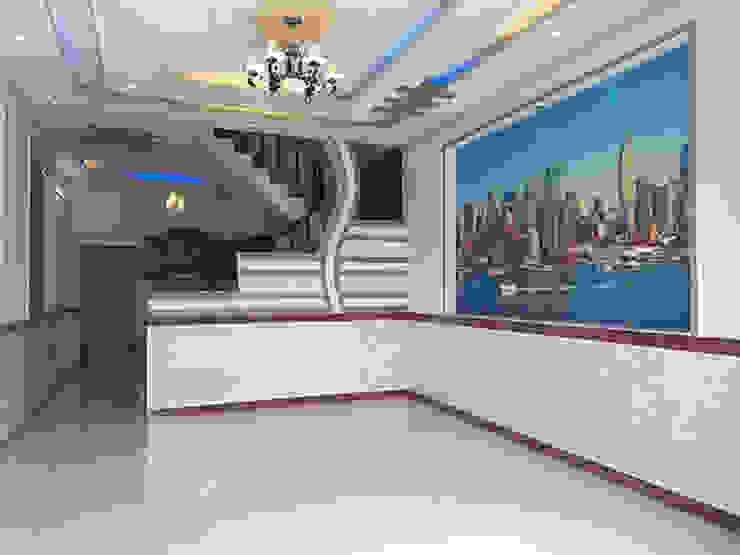Phòng khách rộng rãi Phòng khách phong cách châu Á bởi Công ty TNHH TK XD Song Phát Châu Á Đồng / Đồng / Đồng thau